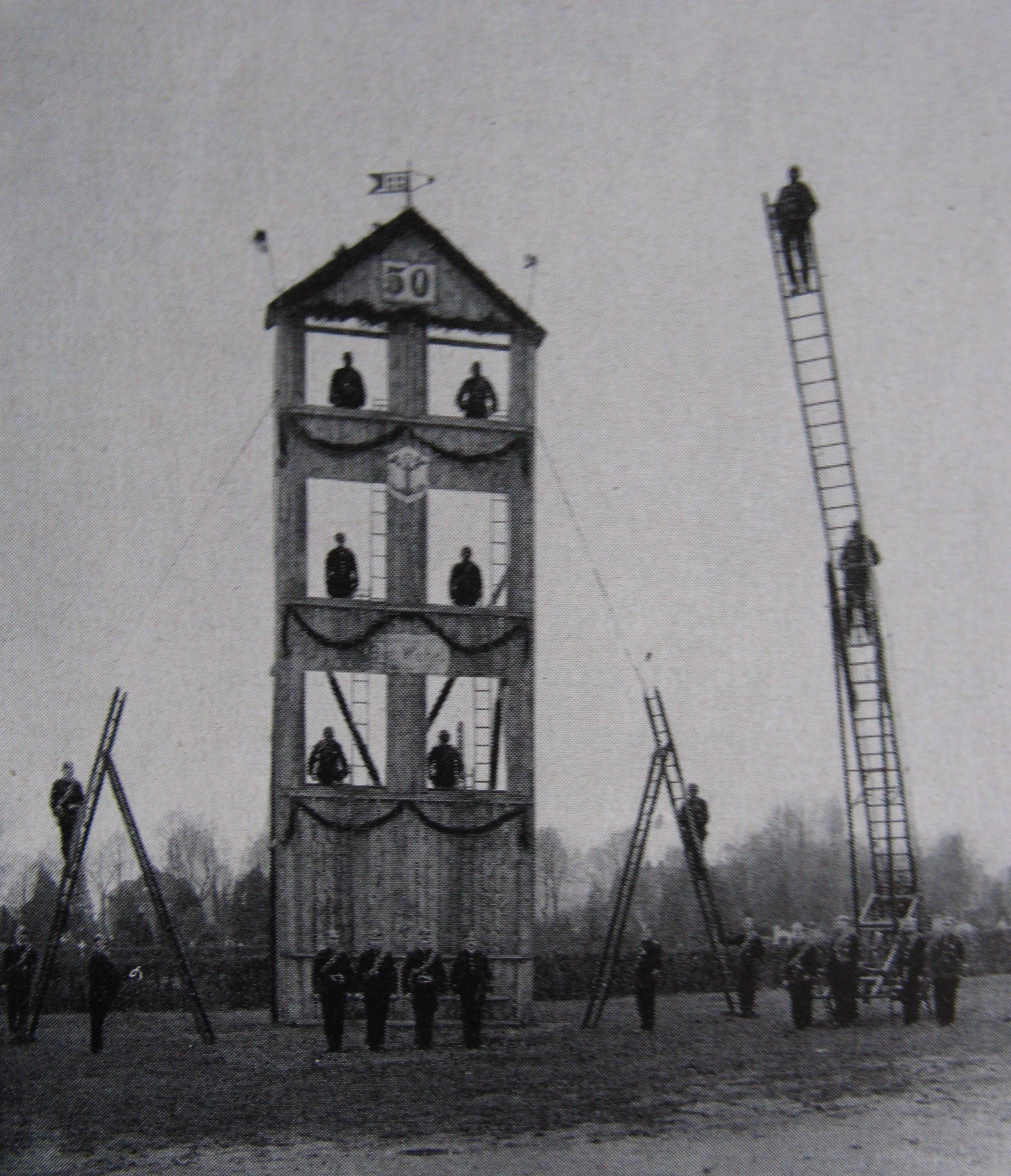 Steigerturm-auf-dem-Marktplatz-50Jahre-1931