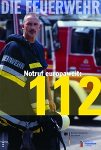 Notruf europaweit: 112 - Aktionsplakat zum EU-Notruftag am 11.2.2011